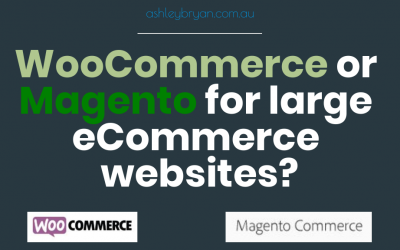 woocommerce or magento for large ecommerce websites
